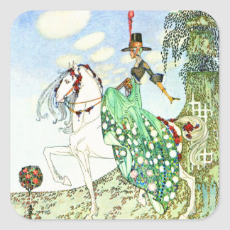 Kay Nielsen's Fairy Tale Princess Minotte Square Sticker