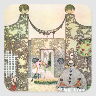 Kay Nielsen's Love In the Afternoon Square Sticker