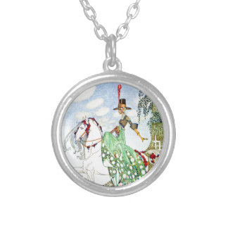 Kay Nielsen's Princess Minotte Fairy Tale Silver Plated Necklace
