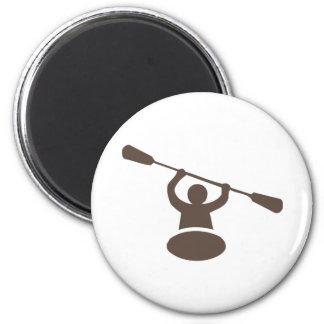 Kayak 6 Cm Round Magnet