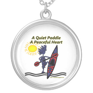 Kayak A Quiet Paddle Waves Personalized Necklace