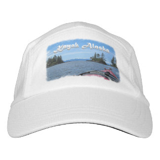 Kayak Alaska to Snow tipped Mountains Template Hat