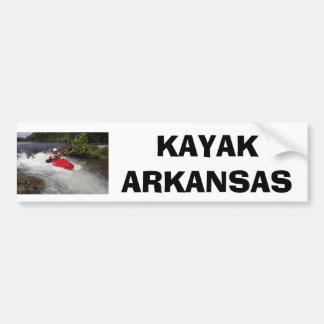 Kayak Arkansas Bumper Sticker