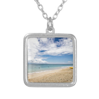 Kayak at South Sea Island, Fiji Square Pendant Necklace