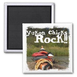 Kayak Balance; Yukon Chicks ROCK Magnet