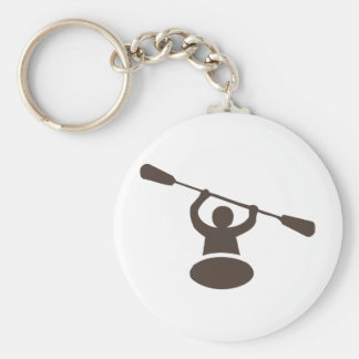 Kayak Basic Round Button Key Ring