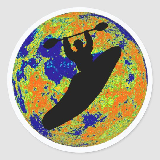 Kayak Best Treks Classic Round Sticker