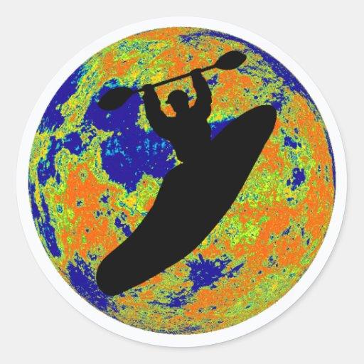 Kayak Best Treks Round Sticker