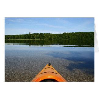 Kayak birthday greeting card