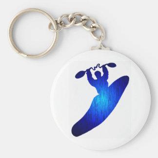 Kayak Blue Holed Keychain