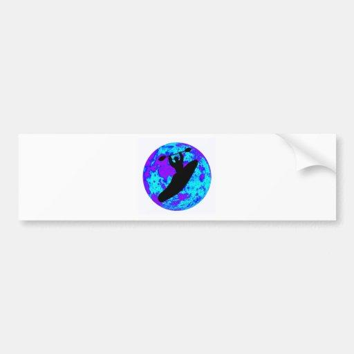 kayak Blue Moon Bumper Sticker
