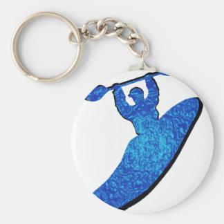Kayak BLUES BOOF Basic Round Button Key Ring