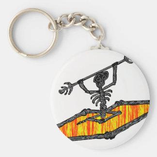 Kayak Bones Drifter Basic Round Button Key Ring