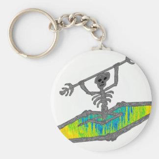Kayak Bones Wavelength Basic Round Button Key Ring