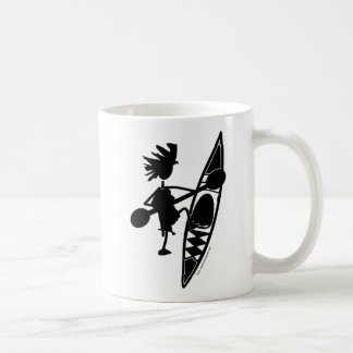 Kayak Canoe Joyful Silhouette Basic White Mug