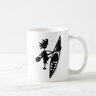 Kayak Canoe Joyful Silhouette Classic White Coffee Mug