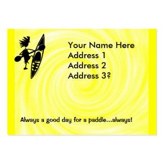Kayak Canoe Joyful Silhouette Pack Of Chubby Business Cards
