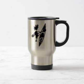 Kayak Canoe Joyful Silhouette Travel Mug