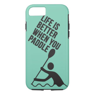 Kayak canoe paddle design iPhone 7 case