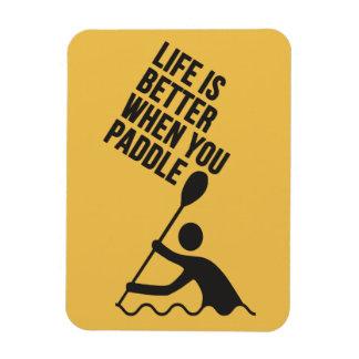 Kayak canoe paddle design rectangular photo magnet