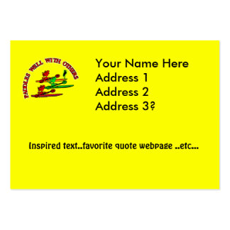 Kayak Canoe - Paddles Well With Others Pack Of Chubby Business Cards