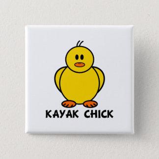 Kayak Chick 15 Cm Square Badge