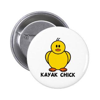 Kayak Chick 6 Cm Round Badge
