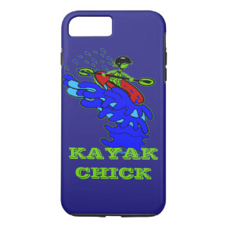 Kayak Chick Bright Neon Celebration iPhone 7 Plus Case