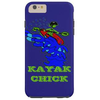 Kayak Chick Bright Neon Celebration Tough iPhone 6 Plus Case