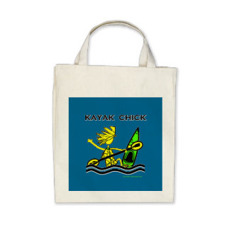 Kayak Chick Designs & Things Canvas Bags