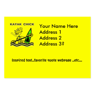 Kayak Chick Designs & Things Pack Of Chubby Business Cards