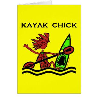 Kayak Chick Designs & Things Greeting Card