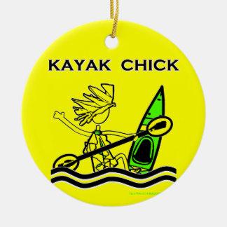 Kayak Chick Designs & Things Christmas Ornament