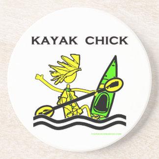 Kayak Chick Designs & Things Coaster