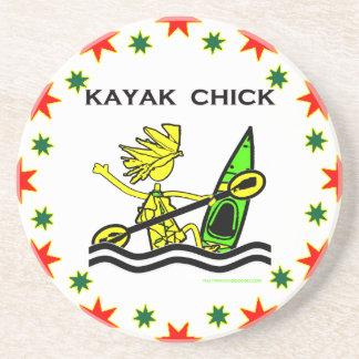 Kayak Chick Designs & Things Beverage Coasters