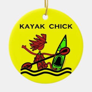 Kayak Chick Designs & Things Christmas Tree Ornament