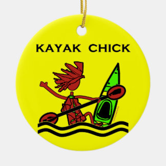 Kayak Chick Designs & Things Christmas Ornament