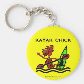 Kayak Chick Designs & Things Key Ring
