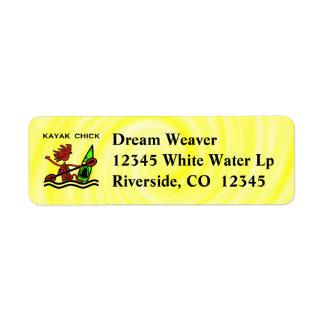 Kayak Chick Designs & Things Return Address Label