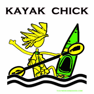 Kayak Chick Designs & Things Photo Sculpture Decoration