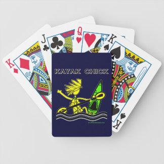 Kayak Chick Designs & Things Bicycle Poker Deck