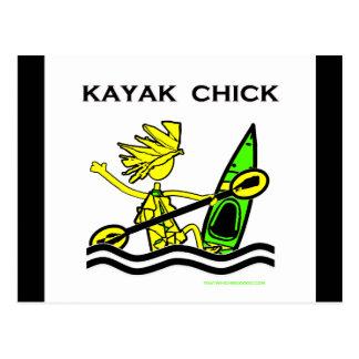 Kayak Chick Designs & Things Postcard