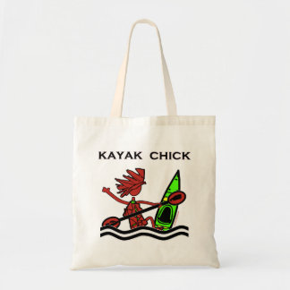 Kayak Chick Designs & Things Canvas Bag
