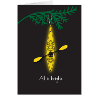 "kayak Christmas card ""All is bright"""