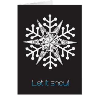 "Kayak Christmas card ""Let it snow!"""