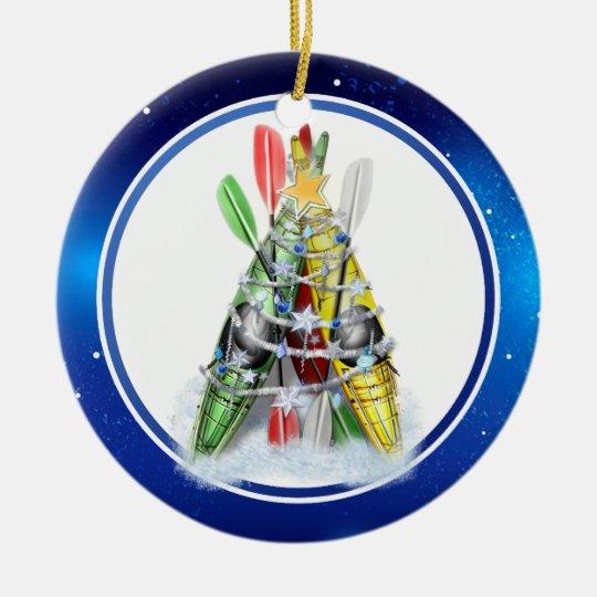 Kayak Christmas Tree Christmas Ornament