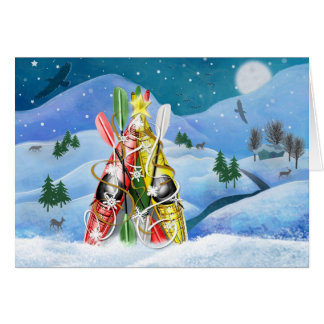 Kayak Christmas Tree - Wonders of Nature Stationery Note Card