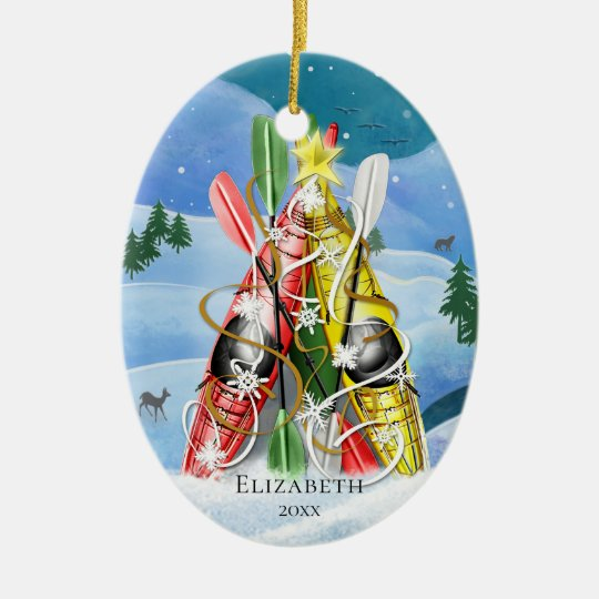 Kayak Christmas Tree Wonders of Nature Christmas Ornament ...