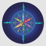 Kayak Compass Rose sticker