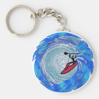 kayak crystal haze basic round button key ring